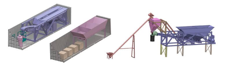 Containerized Dry Concrete Batch Plants