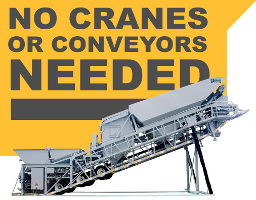 HS Series Mobile Concrete Batch Plant for Sale