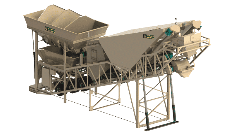 Vince Hagan Dry Mobile Concrete Batching Plants